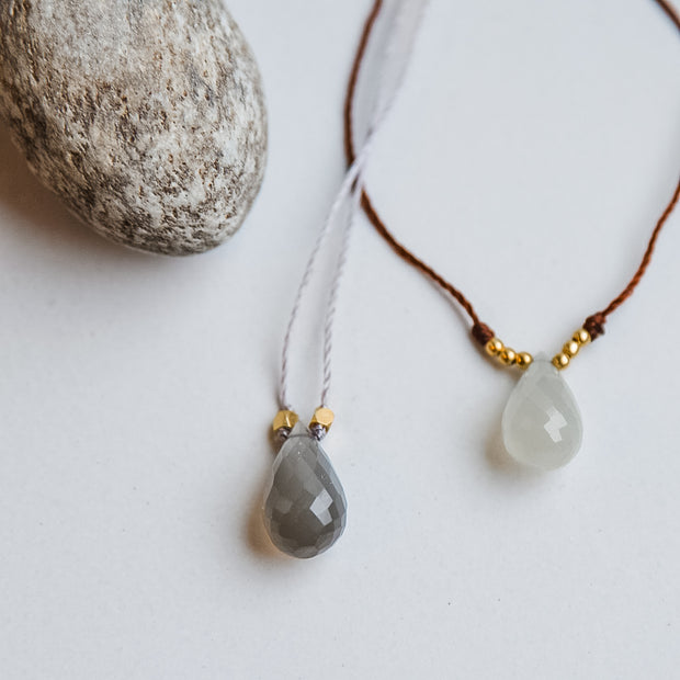 Moonstone Minimal Necklace