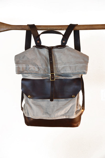 Leather and Canvas Rucksack