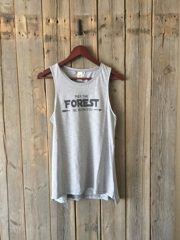 May the Forest Be With You ~ Arrow and Axe  Women's Tank