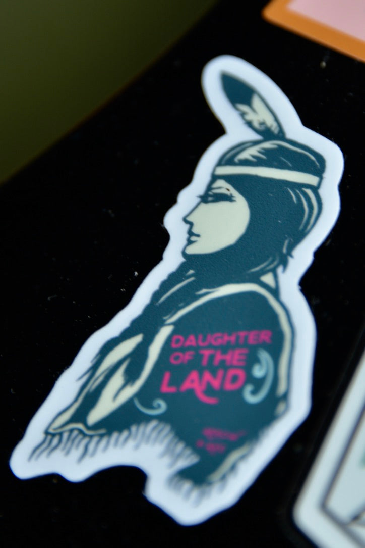 Daughter of The Land Sticker