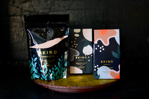 BKIND Body Scrub and Shampoo/Conditioner