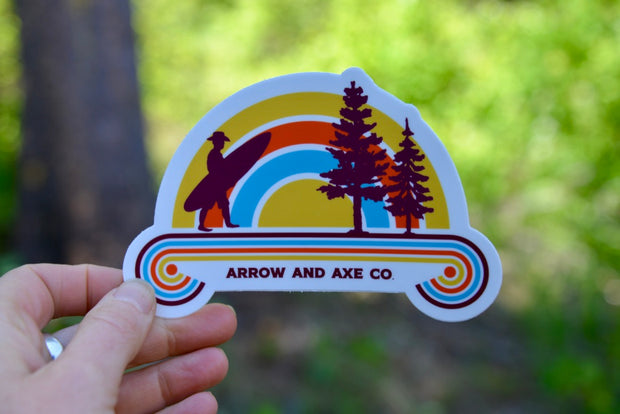 Surfing Cowboy Sticker