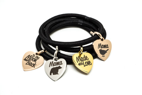 Engraved Heart Charms - Maria Shireen