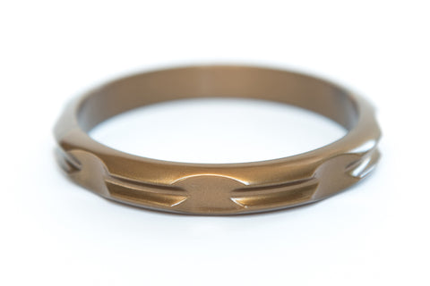 Hair Tie Bangle Plastic Gold