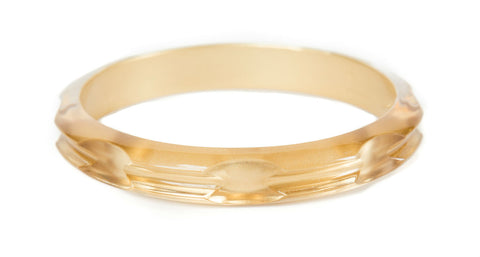 Hair Tie Bangle Plastic Translucent Gold