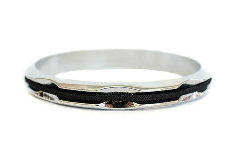 Hair Tie Bangle Silver