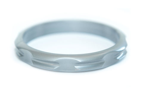 Hair Tie Bangle Plastic Silver