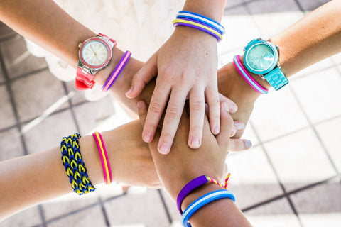 Details about  /Maria Shireen Hair Ties Bracelet Elastic NO MARKS ON WRIST 3 Pack TWEEN Size