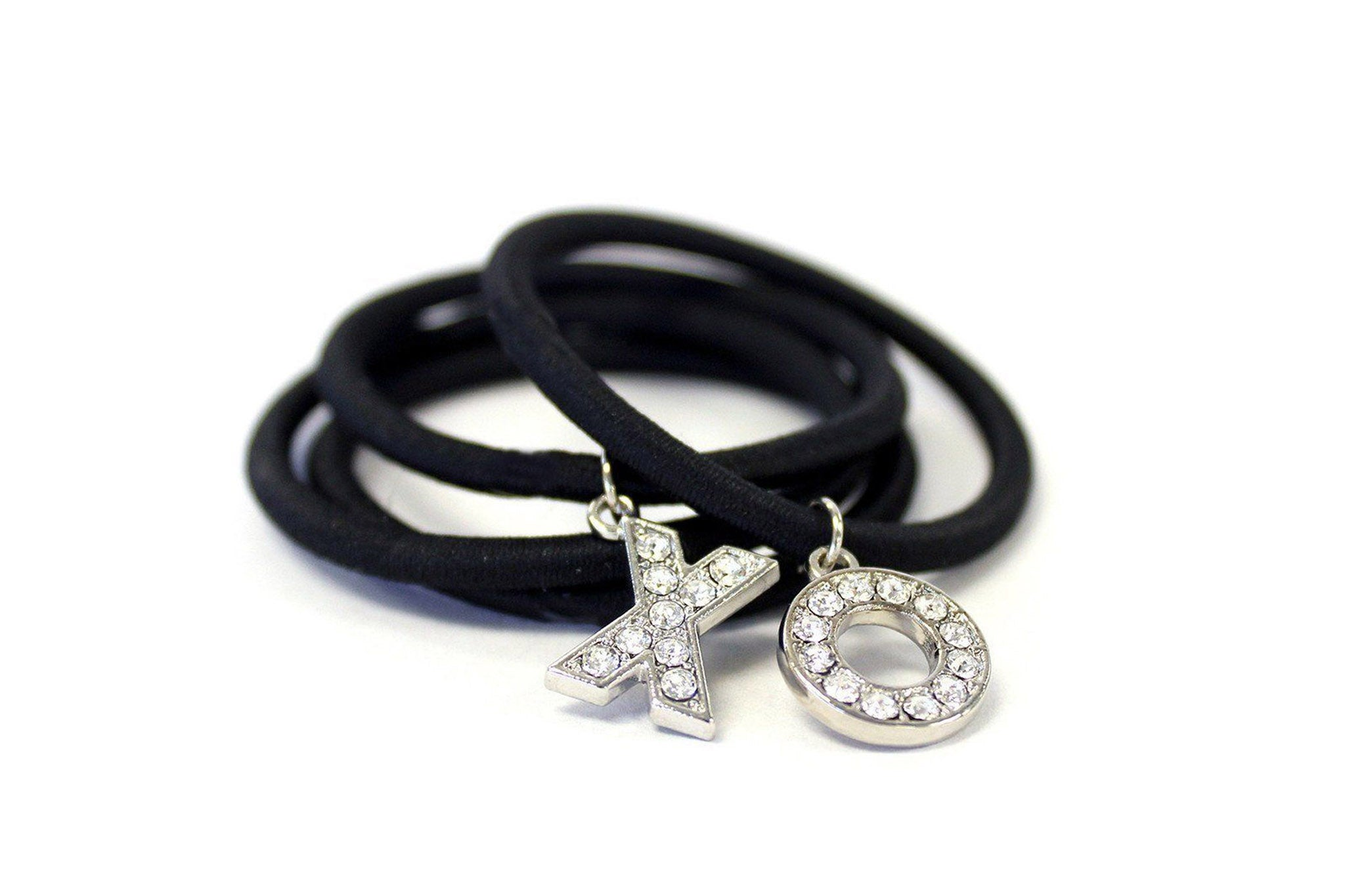 Swarovski encrusted hair tie bracelet charms – Maria shireen® 373d5639601