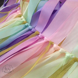 Ribbon Backdrop - Rainbow