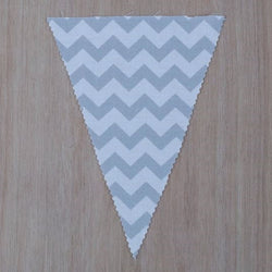 Light Grey Chevron Flag