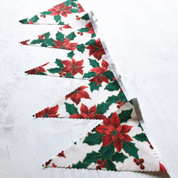 Cream & Red Poinsettia Bunting