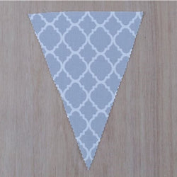 Grey Pattern Flag