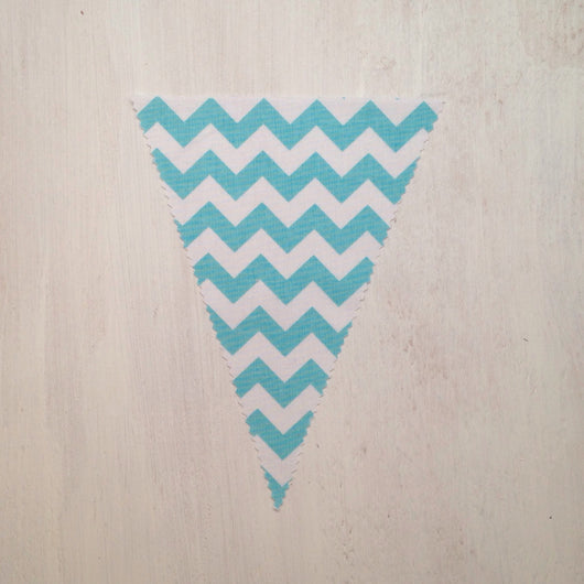 Aqua Chevron Flag