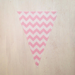 Baby Pink Chevron Flag