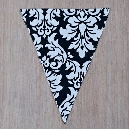 Black & White Damask Flag