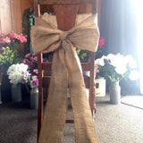Chair Sash - Hessian with Lace