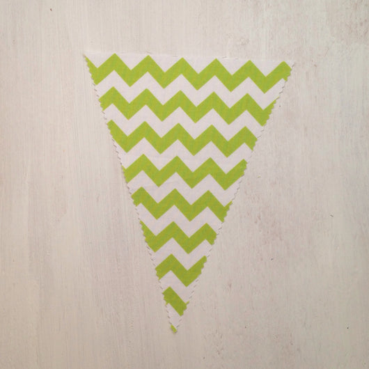 Green Chevron Flag