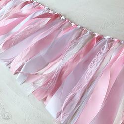 Pastel Pink & White Ribbon Garland