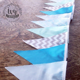 Blue Pattern Flag
