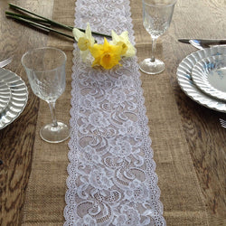 Hessian Lace Table Runner