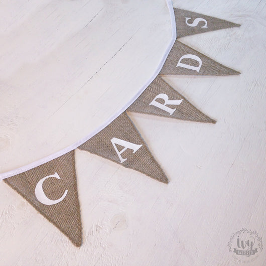 CARDS Hessian Bunting