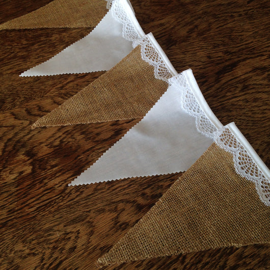 Hessian flags wedding