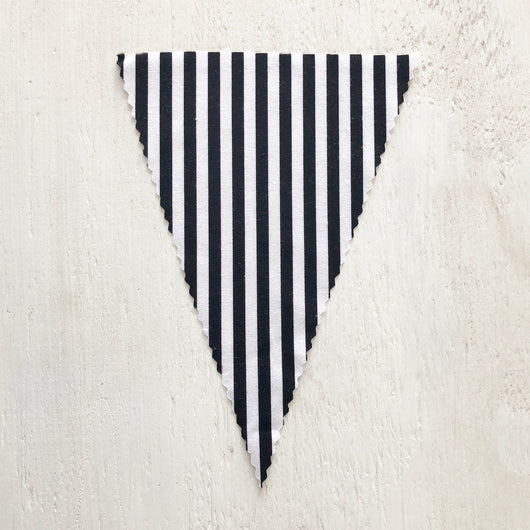 Black & White Stripe Flag