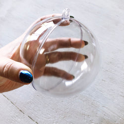 CLEARANCE!! 10cm Clear Bauble