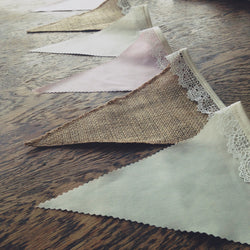 Hessian, Pink & Cream