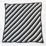 Diagonal Stripe Crochet Throw