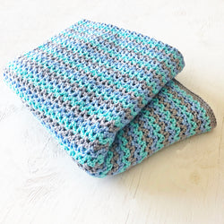 Cotton Blend Crochet Throw