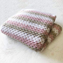 Stripe Crochet Throw