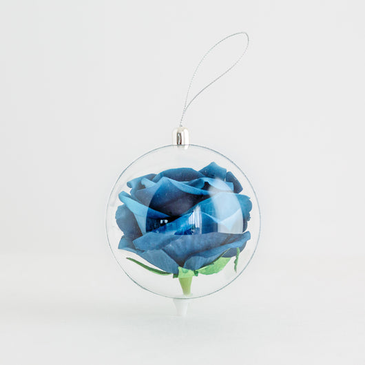 Rose Globe - Large Dark Blue Rose