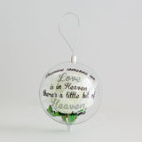 Add a memorial quote to your Globe (Globe sold separately)
