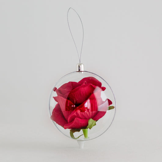 Rose Globe - Red Rose 10cm