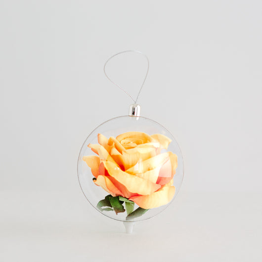 Rose Globe - Yellow Rose 10cm