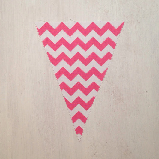 Pink Chevron Flag