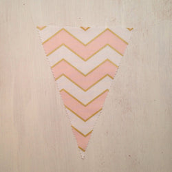 Pink & Gold Chevron Flag