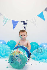 Boy blue cake smash photography nz