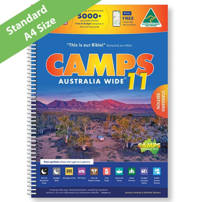 CAMPS11 Spiral Bound A4 + GPS POIs - free shipping