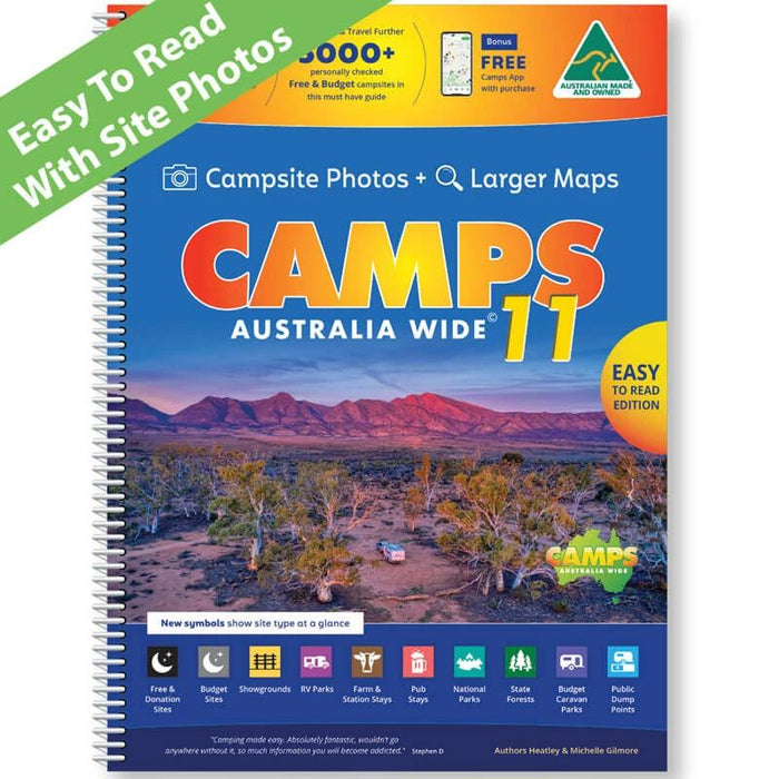 CAMPS11 Easy to Read Edition + GPS POIs - free shipping