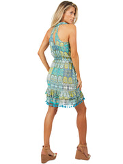 Aquamarine Ruffle Dress