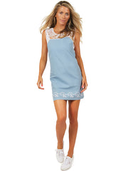 Macrame Denim Dress