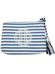 Piña Striped Summer Clutch