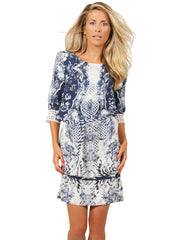 Blue Chine de Chine Tunic Dress