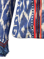 Blue Ikat Neon Jacket