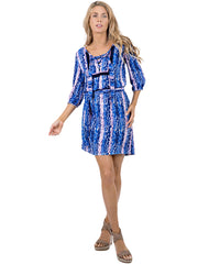 BLUE CAT TUNIC DRESS