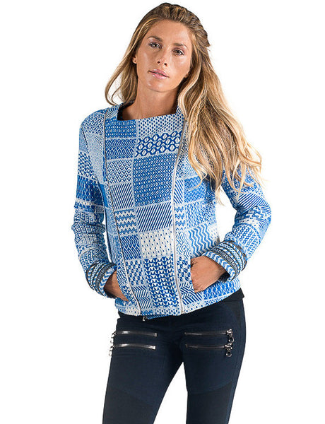 Blue Inca Patchwork Jacket