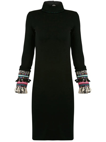 Apache Turtleneck Wool Dress